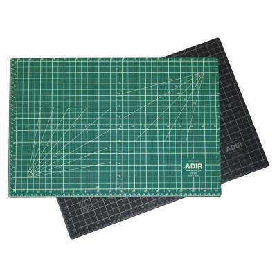 12 in. x 18 in. Self Healing Reversible Cutting Mat, Green/Black