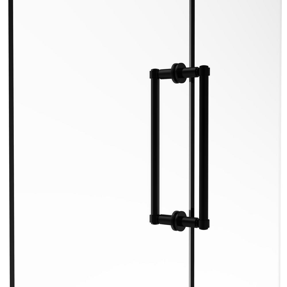Contemporary 12 in. Back to Back Shower Door Pull in Matte