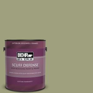 Behr Ultra 1 Gal Bic 57 French Parsley Extra Durable Eggshell Enamel Interior Paint Primer 275401 The Home Depot