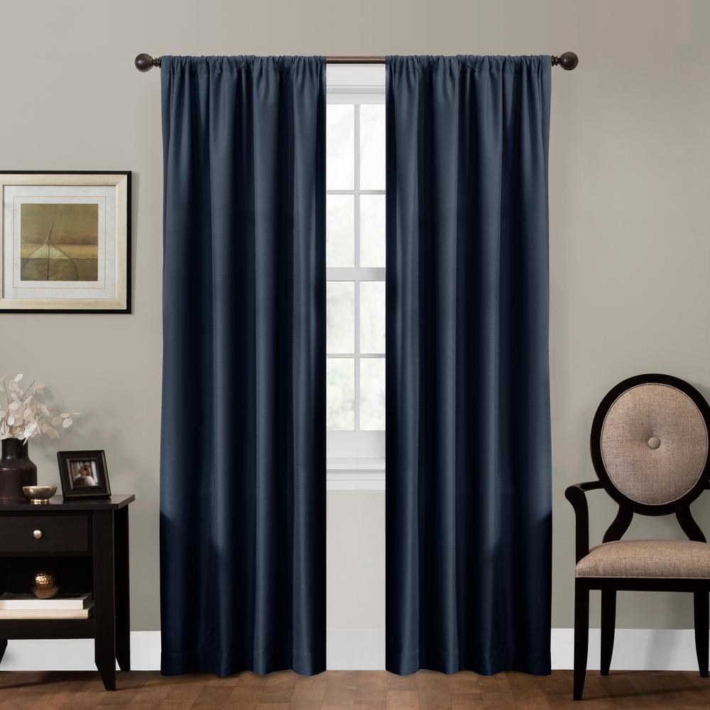 Maytex Julius 50 in. x 84 in. 100% Blackout Smart Curtain Window Panel