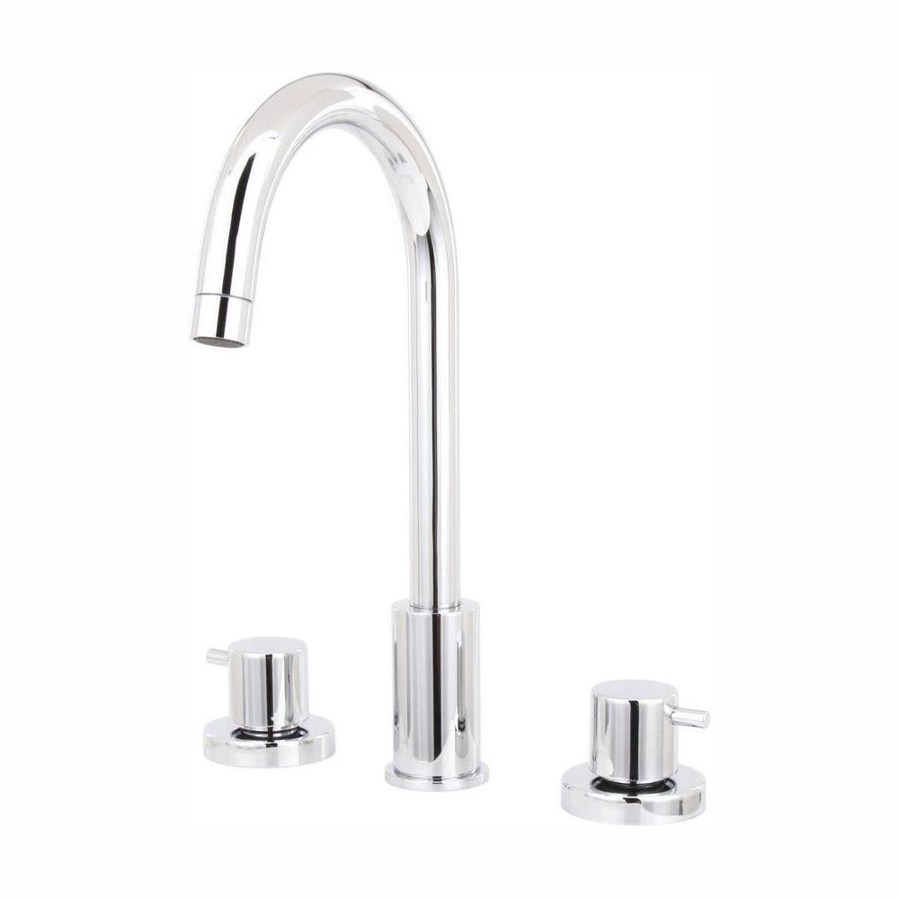Elba 8 in. Widespread 2-Handle High-Arc Bathroom Faucet in Chrome