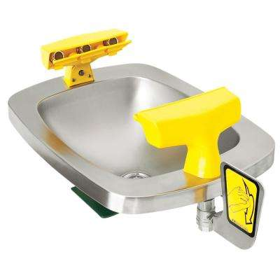 Select Series Wall-Mounted Emergency Eye and Face Wash Station with Stainless Steel Bowl