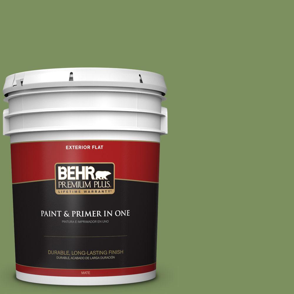 5 gal. #PPU10-03 Green Energy Flat Exterior Paint