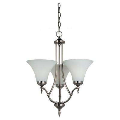Montreal 3-Light Antique Brushed Nickel Single-Tier Chandelier