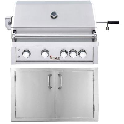 Nexgrill 4 Burner Propane Gas Grill In Stainless Steel With