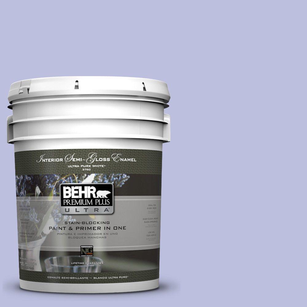 5-gal. #620A-3 Rhapsody Lilac Semi-Gloss Enamel Interior Paint