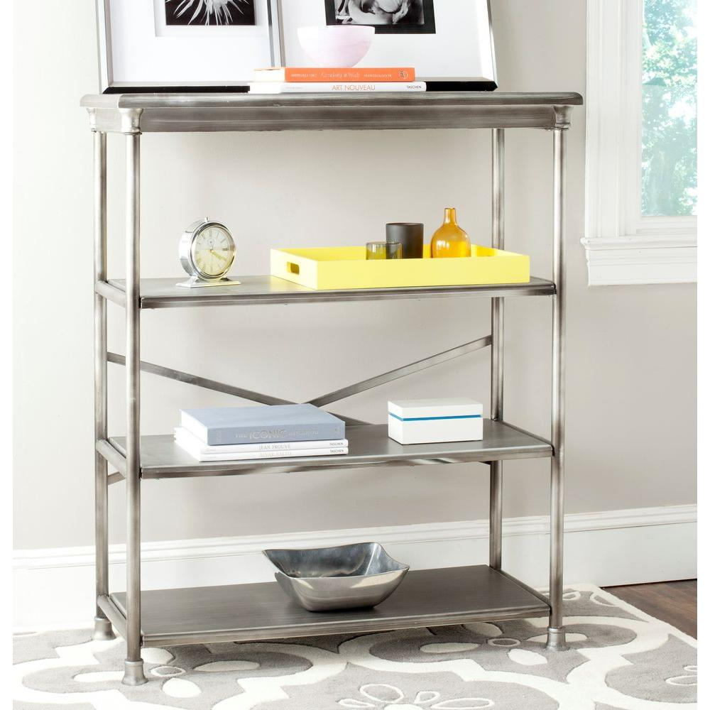 Safavieh Jacinda Dark Silver Open Bookcase