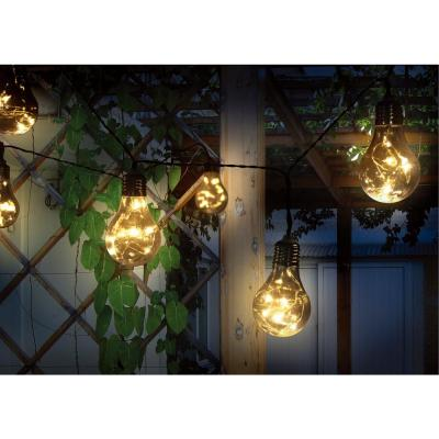 Outdoor 64 in. Solar LED Edison Integrated LED String Lights