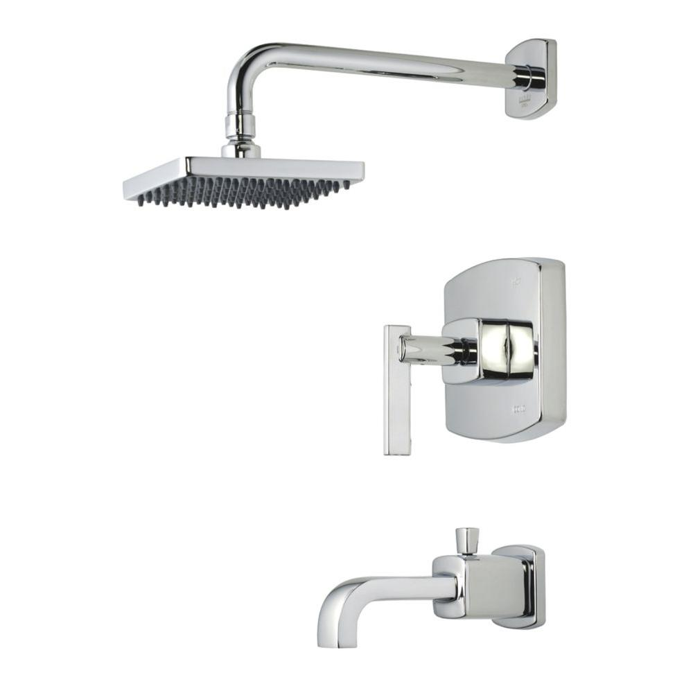 Pegasus Schon 1 Handle Tub And Shower Faucet In Chrome