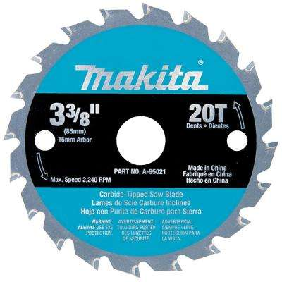 3-3/8 in. 20-Teeth Carbide-Tipped Circular Saw Blade for SH01W