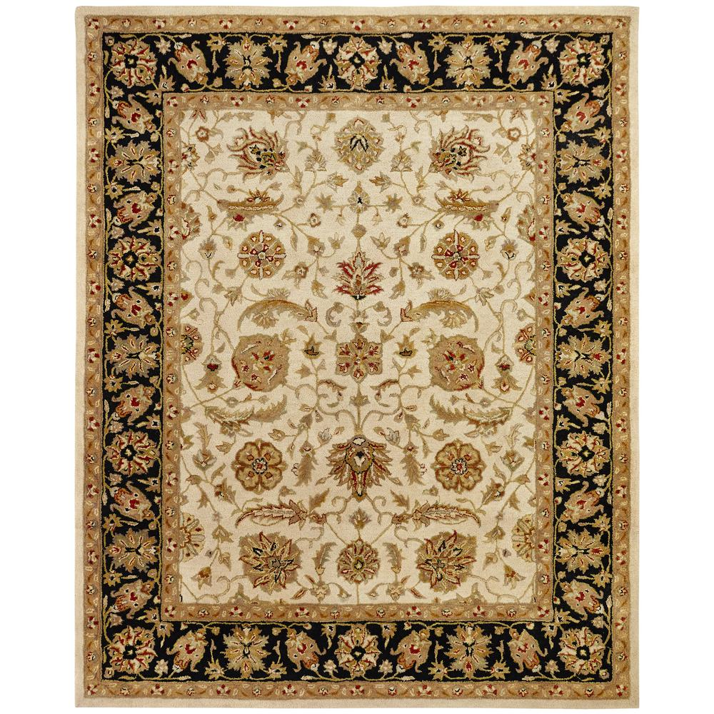 Empire Ivory/Black 2 ft. x 3 ft. Area Rug