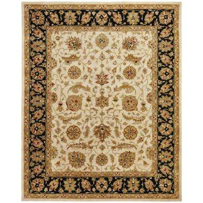 Empire Ivory/Black 8 ft. x 10 ft. Area Rug