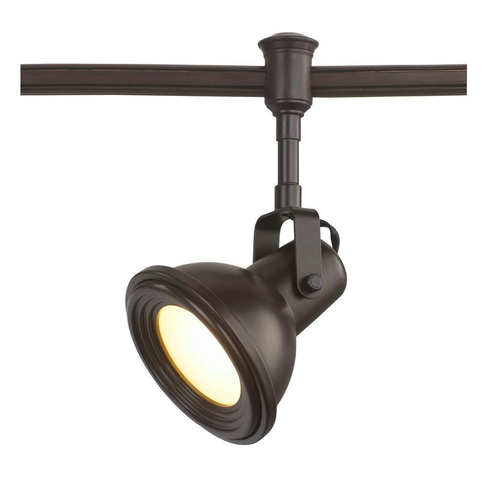 Commercial Electric Led Bronze Restoration Style Flexible Track Lighting Head