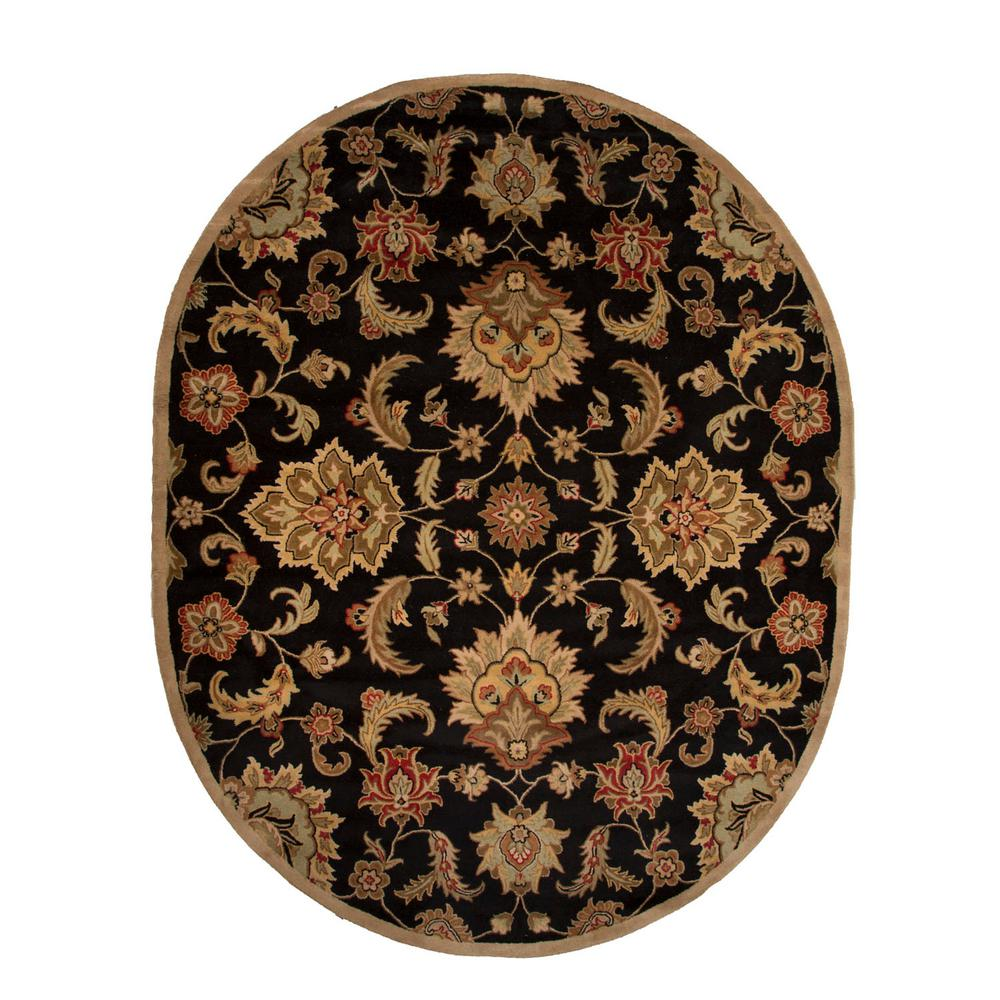 Ottomanson Traditional Floral Design Dark Red 2 Ft X 7 Ft: Ottomanson Ottohome Collection Seafoam Oriental Design 2