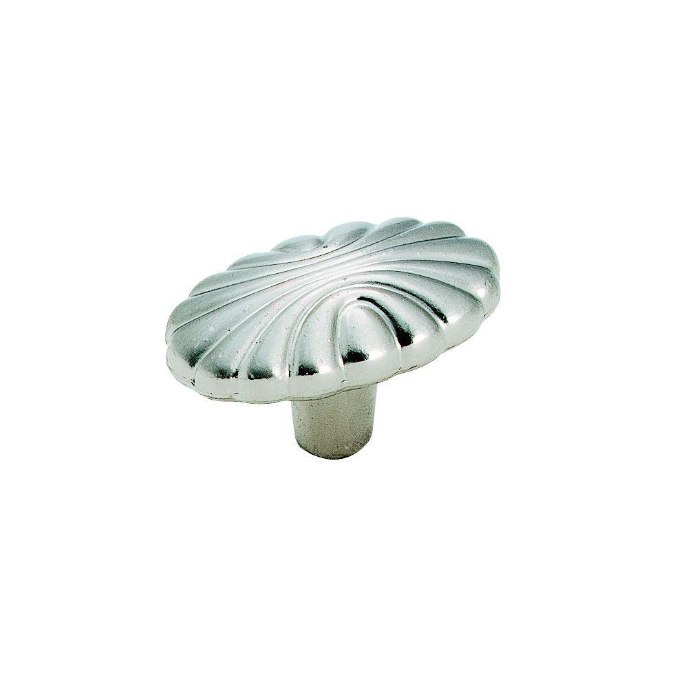 Natural Elegance 1-5/8 in. (41 mm) Length Sterling Nickel Cabinet Knob
