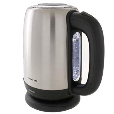 5-Cup Stainless Steel Electric Kettle, BPA-Free, Concealed Heating Element, Auto Shut Off & Boil-Dry Protection