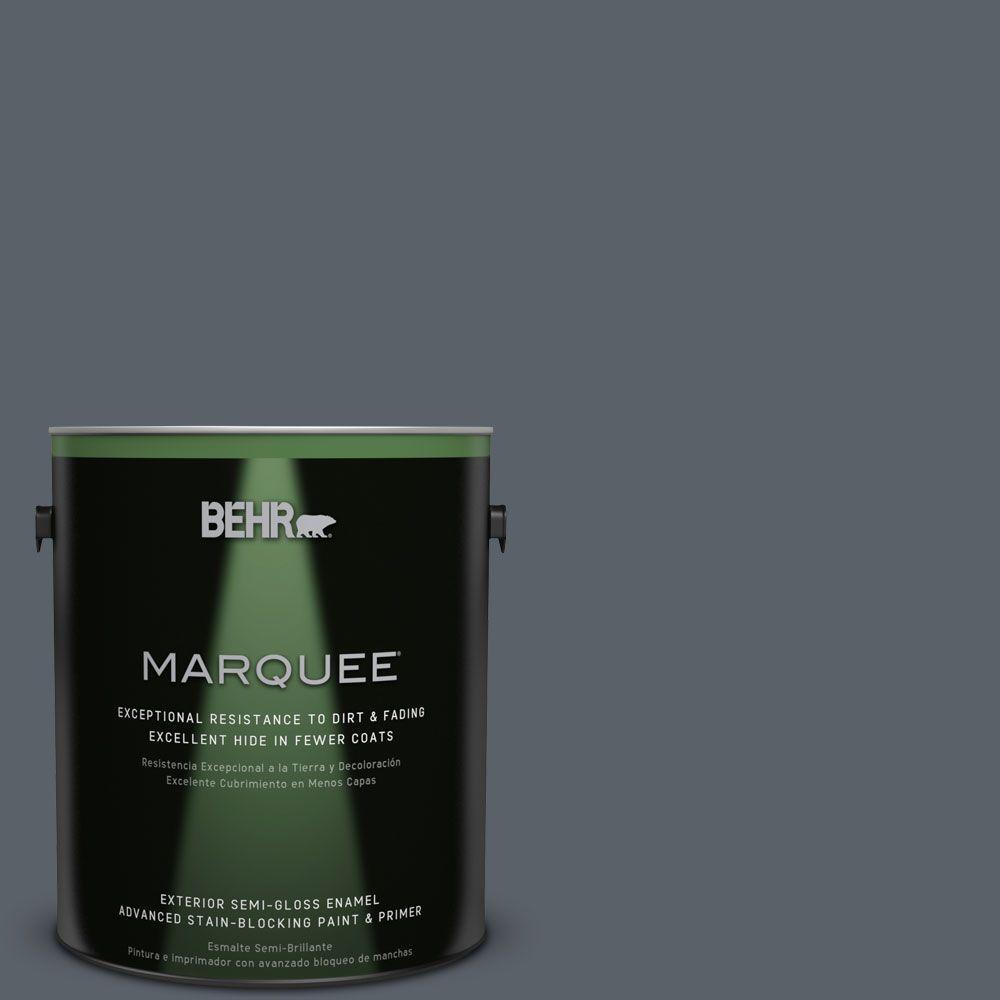 Home Decorators Collection 1-gal. #HDC-AC-25 Blue Metal Semi-Gloss Enamel
