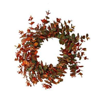 22 in. Fall Eucalyptus Wreath