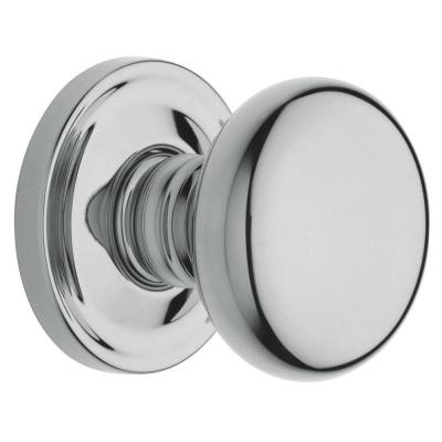 Polished Chrome Kwikset 200CV-26V1 Cove Passage Door Knob Set with Round Rose