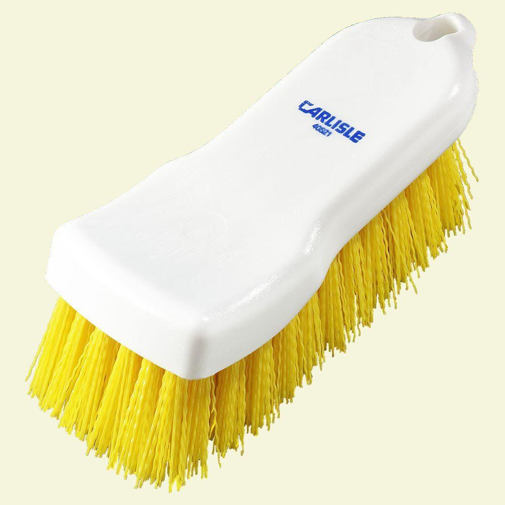 6 in. Compact Yellow Hand Scrub Brush (Case of 12)