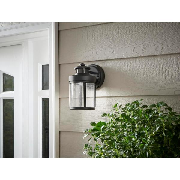 LIGHTESS Dusk to Down Exterior Wall Lights IP65 Waterproof Black Porch Lights Square OT656P Outdoor Wall Sconces Motion Sensor 18W Cool White