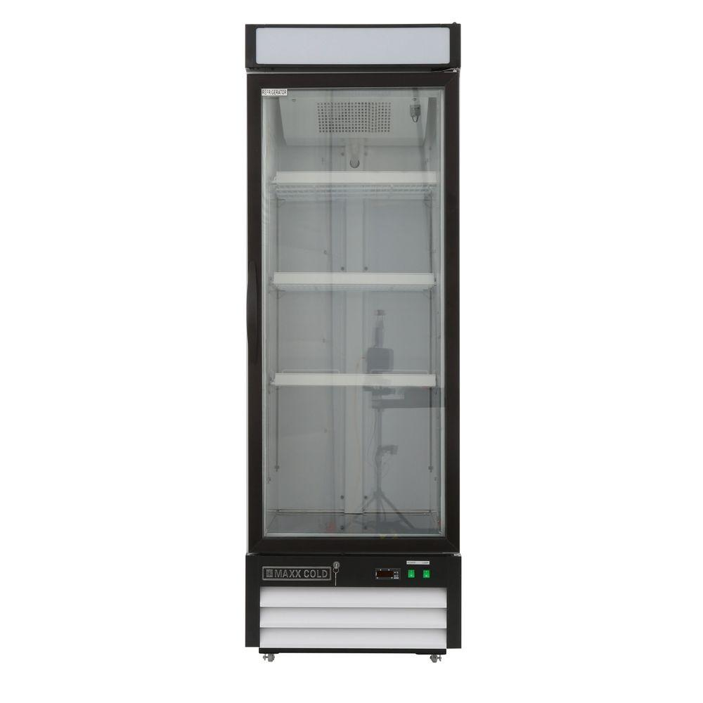 Maxx Cold X Series 16 Cu Ft Single Door Merchandiser Refrigerator