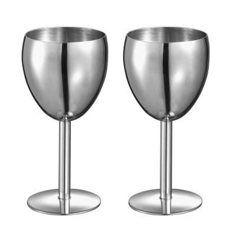 Antoinette Stainless Steel Wine Glass (Set of 2)