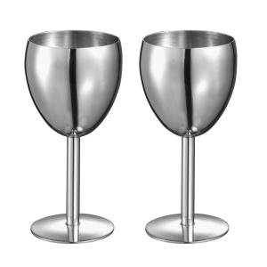 Click here to buy Visol Antoinette Stainless Steel Wine Glass (Set of 2) by Visol.
