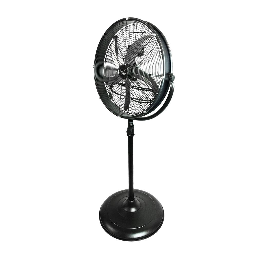 VIE AIR 20 in. Adjustable Height Pedestal Industrial Drum Fan With 360 Degree Tilt