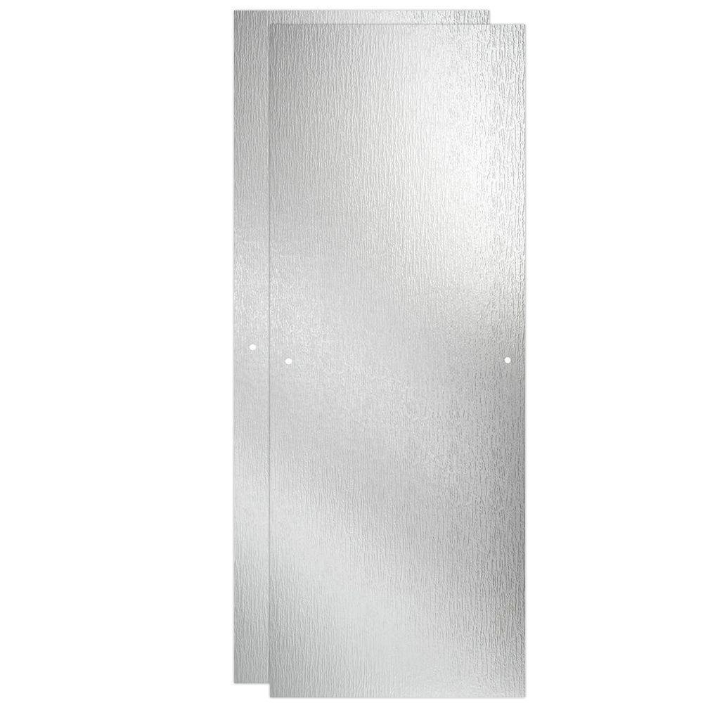 23-17/32 in. x 67-3/4 in. x 1/4 in. Frameless Sliding Shower Door Glass Panels in Rain (1-Pair for 44-48 in. Doors)