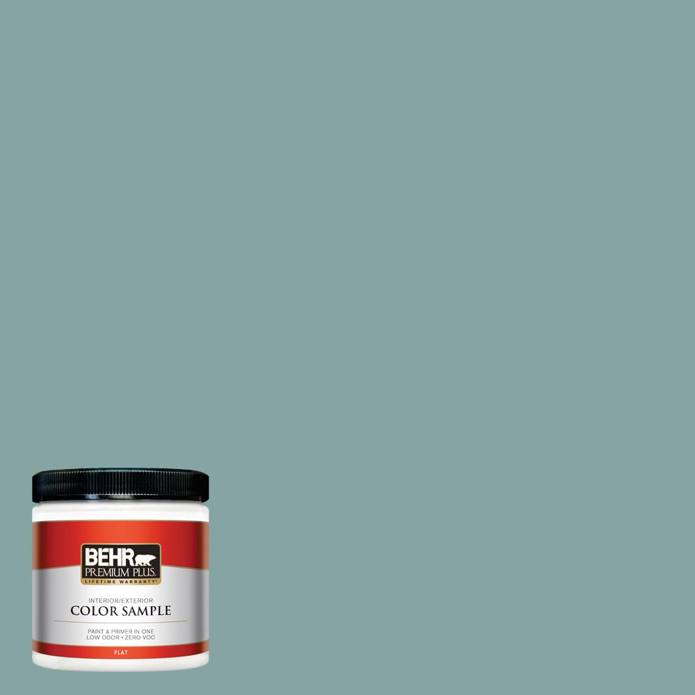 8 oz. #PPU13-08 Venus Teal Flat Interior/Exterior Paint Sample