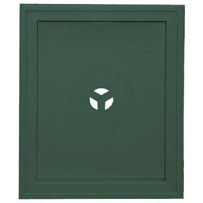 6.75 in. x 8.75 in. #028 Forest Green Large Recessed Mounting Block