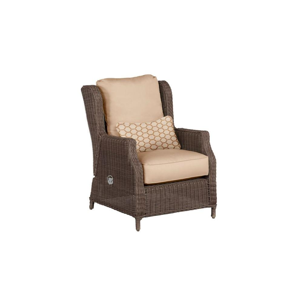 Vineyard Patio Motion Lounge Chair in Harvest with Tessa Barley Lumbar