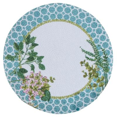 Greenery 14.5 in x 14.5 in. Multi Braided Placemats (Set of 4)