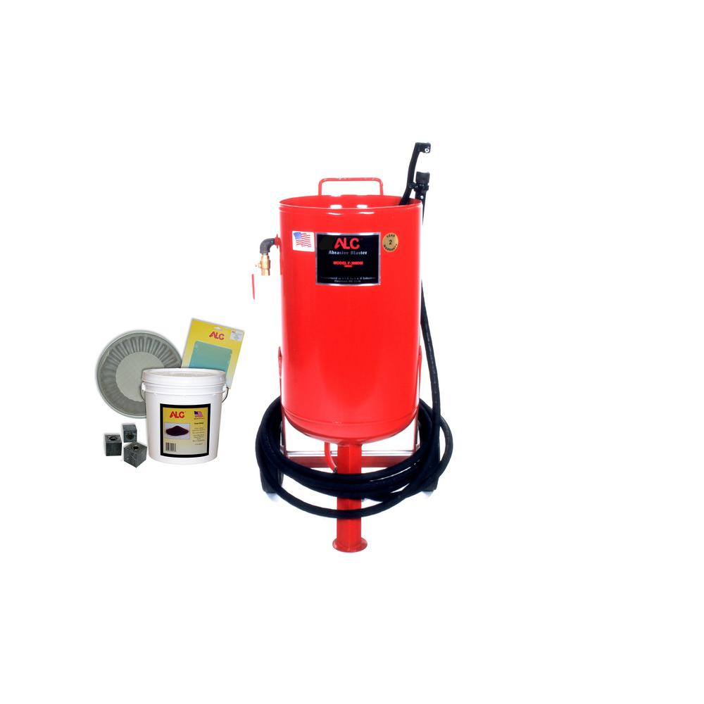 300 lbs. Portable Abrasive Pressure Blaster with Starter Kit
