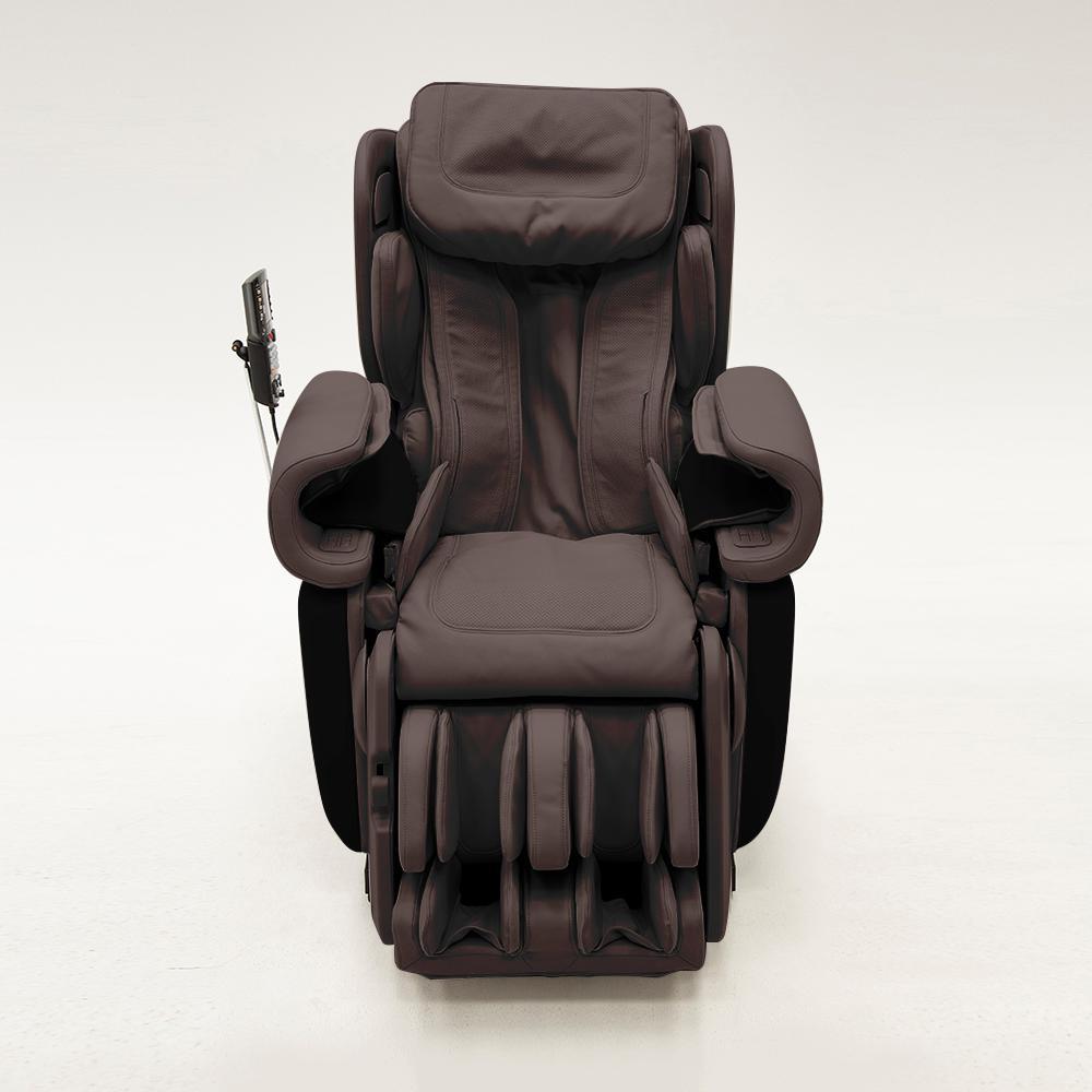 SyncaWellness Synca Wellness Kagra Espresso Modern Synthetic Leather Premium Super Stretch 4D Massage Chair, Espresso/Modern