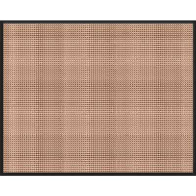 WaterGuard Medium Brown Snow Mobile 45.5 in. x 60 in. Landing Pad