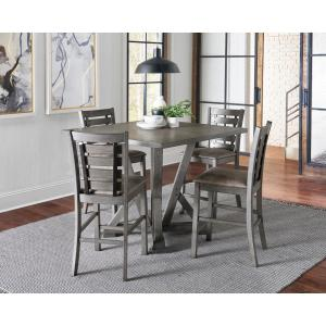 Fiji 1-Piece Harbor Gray Counter Height Dining Table