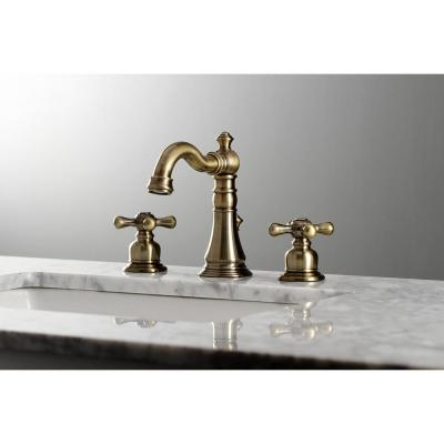 American Classic 8 in. Widespread 2-Handle Bathroom Faucet in Antique Brass