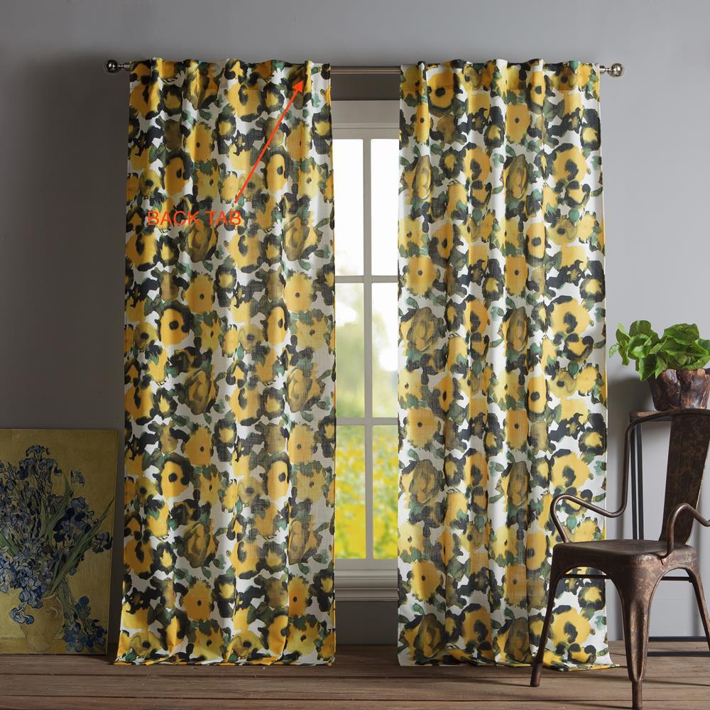 Keila 38 in. W x 84 in. L Polyester Window Panel in Multi