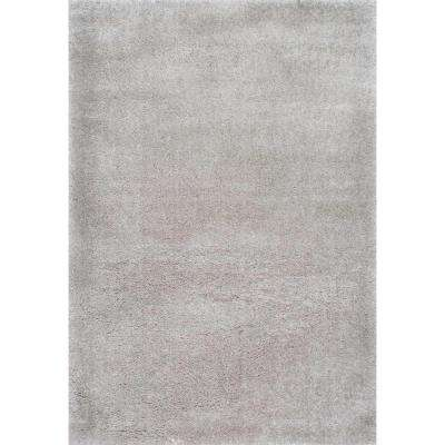 Gynel Cloudy Shag Silver 8 ft. x 10 ft. Area Rug
