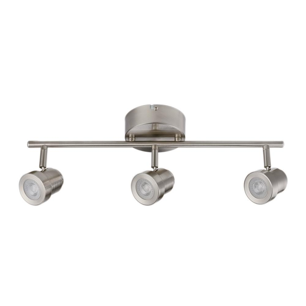 Home Depot Track Lighting: Globe Electric Hunter Collection 3-Light Brushed Nickel