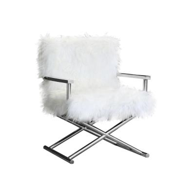 Calgary Contemporary White Upholstered Accent Chair