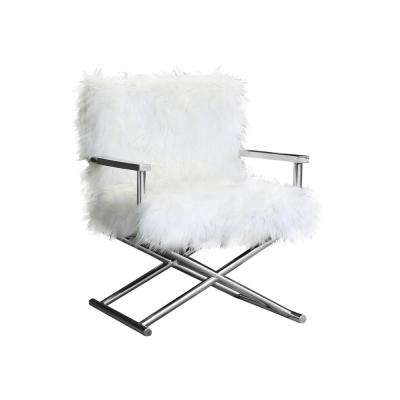 Gibson Contemporary White Upholstered Accent Chair