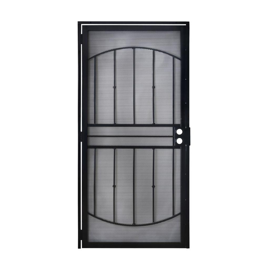 805 Series Black Defender Security Door