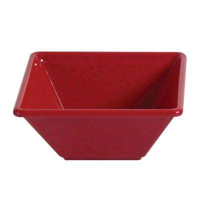 Jazz 11 oz., 4-3/4 in. x 4-3/4 in. Square Bowl, 2 in. Deep in Red (1-Piece)