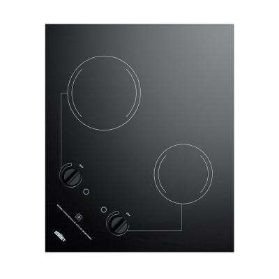 21 in. Radiant Electric Cooktop in Black with 2 Elements