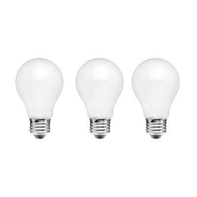 60-Watt Equivalent A15 Dimmable Frosted Filament LED Light Bulb, Daylight (3-Pack)