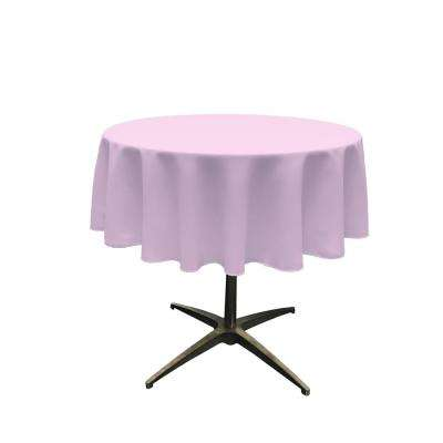58 in. Round Lilac Polyester Poplin Tablecloth