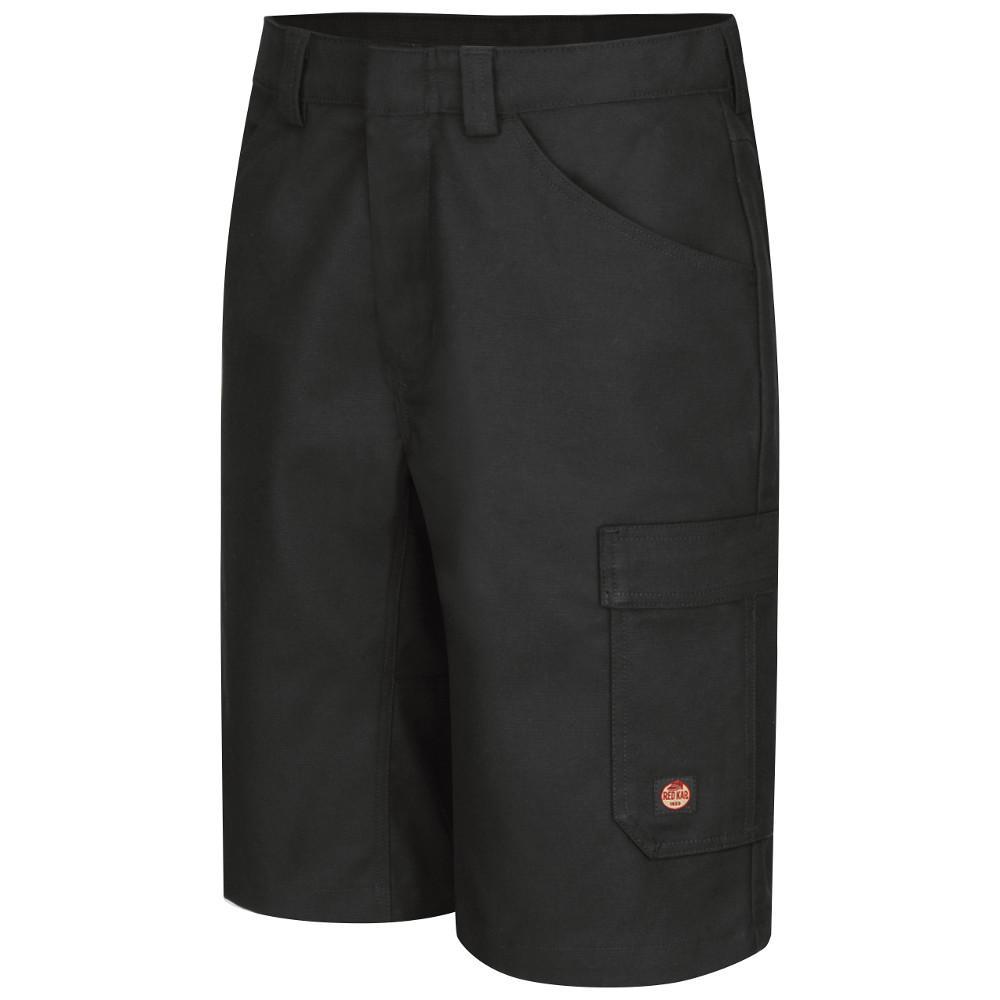 Men's Size 50 in. x 13 in. Black Shop Short